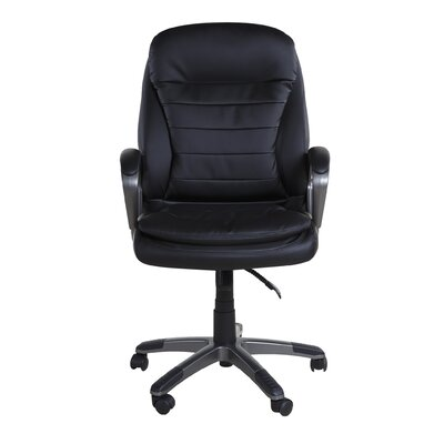 OneSpace High-Back Leather Executive Office Chair