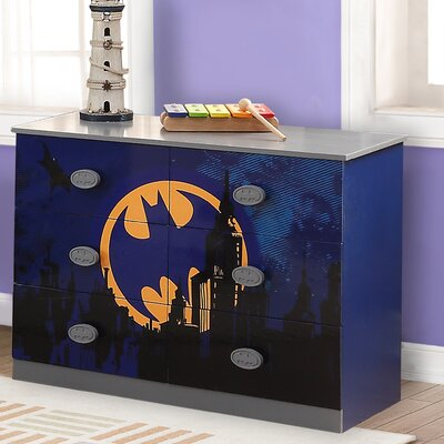 O'Kids Inc. Batman 6 Drawer Double Dres..