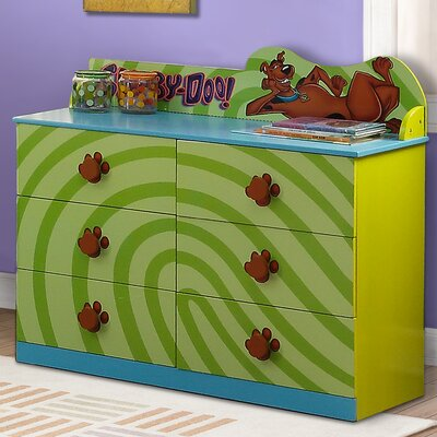 O'Kids Inc. Scooby Doo 6 Drawer Doub..