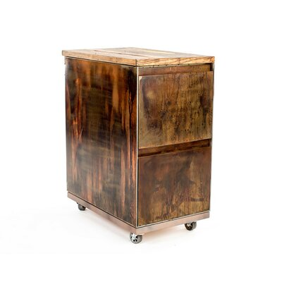 Urban 9-5 2-Drawer Mobile Vintage File Cabinet