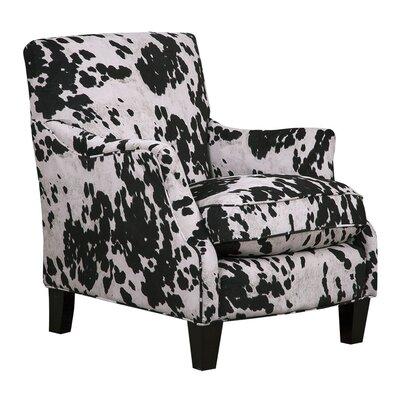 Aden Furnishings Cow Black Club Chair