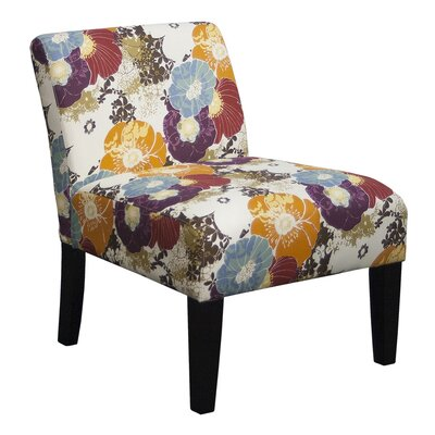 Aden Furnishings Floral Graffiti Slipper Chair