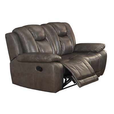 Coja Fleetwood Leather Reclining Loveseat