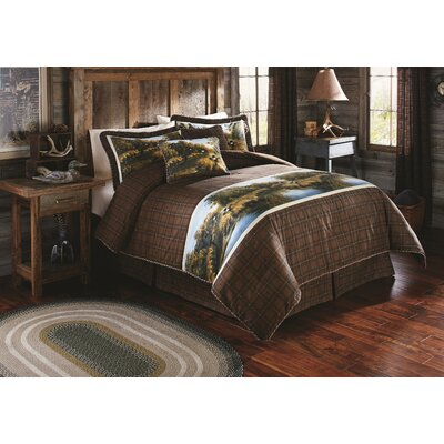 Mountain Woods Furniture Rustic Arts™ Panel 4 Piece Bedroom Set