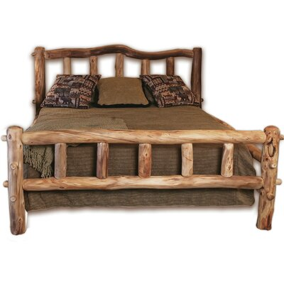 Mountain Woods Furniture Rustic Arts™ Platform Bed