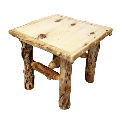 Mountain Woods Furniture Aspen Grizzly End Table