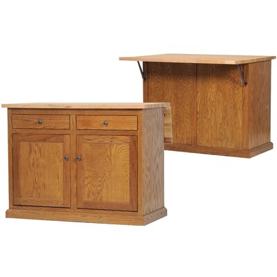 American Heartland Kitchen Island with Flip-Up Top