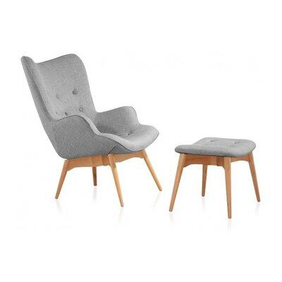 UrbanMod Mid Century Lounge Chair and Ottoman