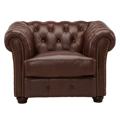 DeLandis Furniture DeCoro Barrister Stationary Leather Arm Chair
