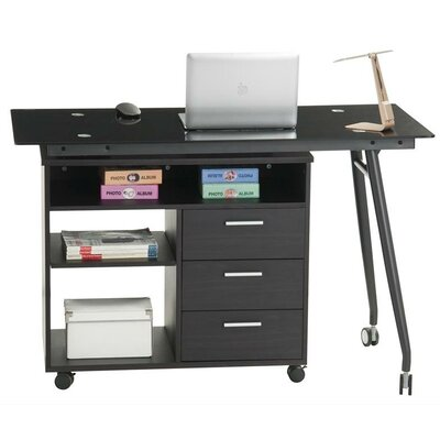 Inland Products ProHT L-Shape Computer Desk with 3 Drawers