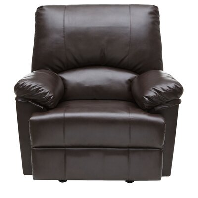Relaxzen Marbled Leather Rocker Recliner with Heat and Massage
