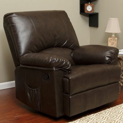 Relaxzen Marbled Leather Rocker Reclin..