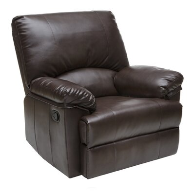 Relaxzen Marbled Leather Rocker Recliner