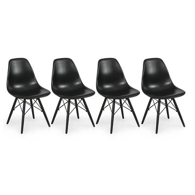 Belleze Eames Molded PlasticSide Chair (Set of 4)