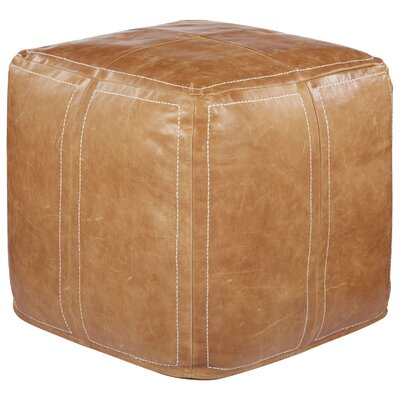 Nikki Chu Ultra By Nikki Chu Leather Pouf Ottoman