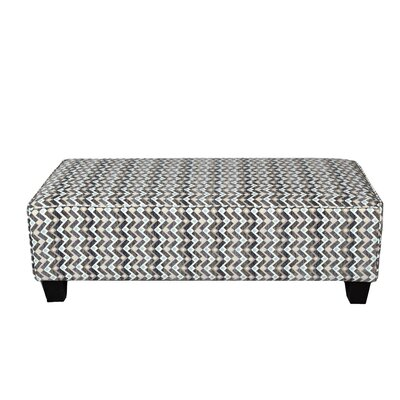 Porter International Designs Noelle Woven Zig Zag Rectangular Cocktail Ottoman Image