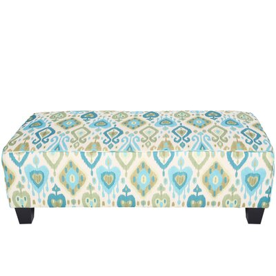 Porter International Designs Clover Ikat Rectangular Cocktail Ottoman