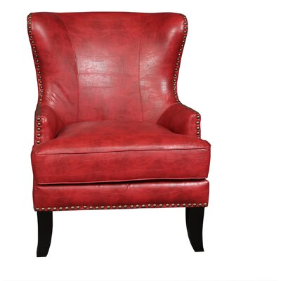 Porter International Designs Grant Bonded Leather Wing-back Arm Chair