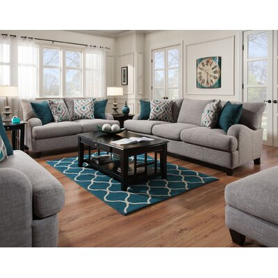 Laurel foundry modern farmhouse rosalie living room for Colorful living room sets