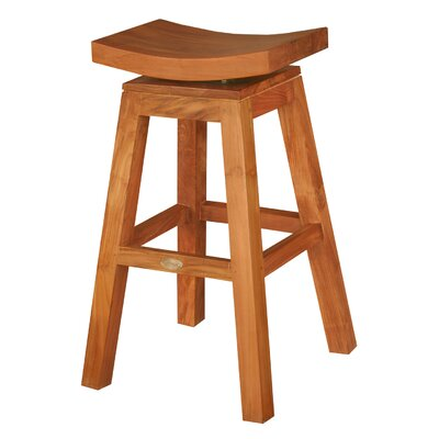 Chic Teak Swivel Bar Stool