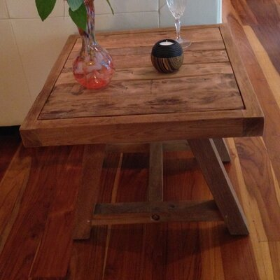 Chic Teak Recycled Teak End Table