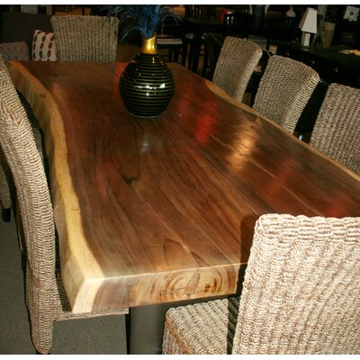 Chic Teak Suar Slab Dining Table