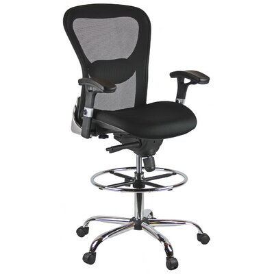 Harwick Furniture Height Adjustable Mesh Drafting Chair