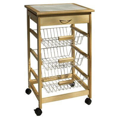 OIA Kitchen Cart with Wood Top & Reviews