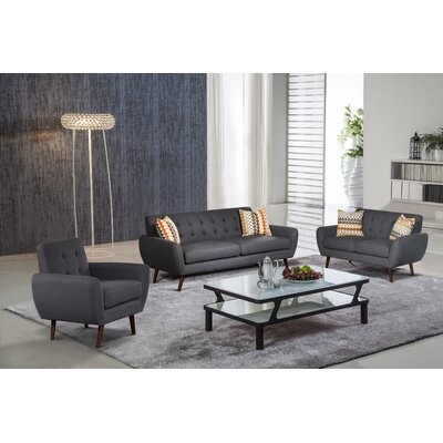 PDAE Inc. Lola 3 Piece Living Room Set