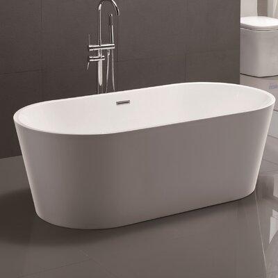 Vanityart 59 x 29 5 freestanding soaking bathtub for Freestanding bath sizes