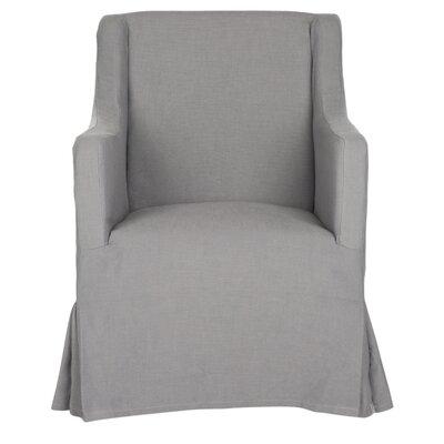 August Grove Skirted Slipcover Arm Chair