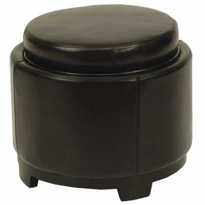 Safavieh Round Leather Cocktail Ottoman