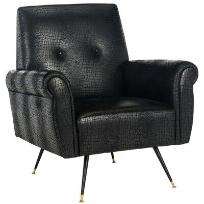 Safavieh Mira Retro Mid Century Faux Leather Armchair