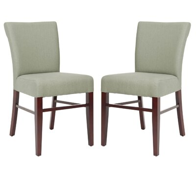 Safavieh Heidy Side Chair in Grey Linen / Mahogany (Set of 2) (Set of 2)
