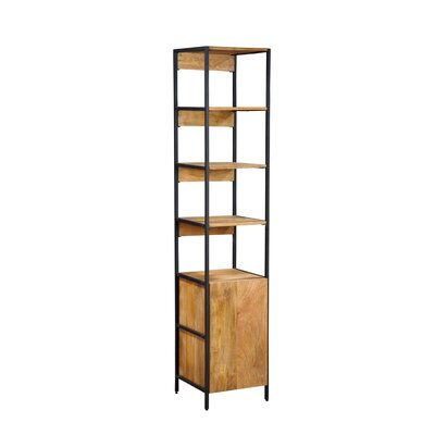 Home and Garden Direct Open Plus Closed Storage Unit Standard Bookcase