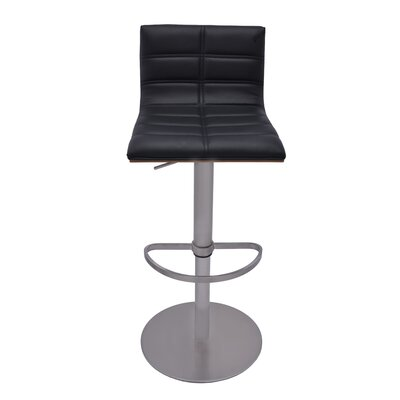 RMG Fine Imports Sydney Adjustable Height Swivel Bar Stool with Cushion