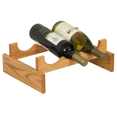 Wooden Mallet Dakota 3 Bottle Tabletop Wine Rack