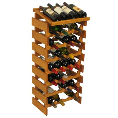 Wooden Mallet Dakota 32 Bottle Floor Wine Rack