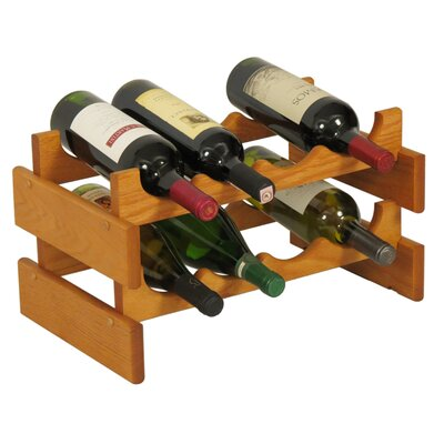 Wooden Mallet Dakota 8 Bottle Tabletop Wine Rack