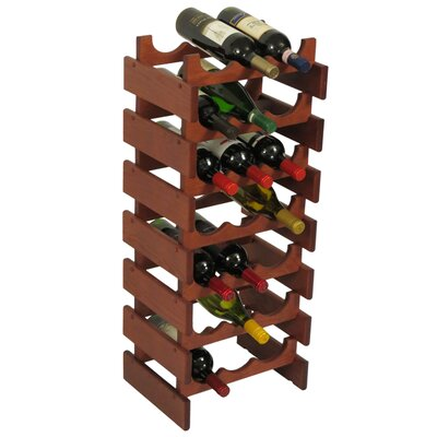 Wooden Mallet Dakota 21 Bottle Floor Wine Rack