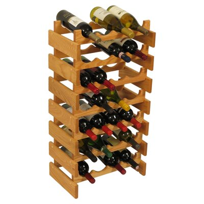 Wooden Mallet Dakota 28 Bottle Floor Wine Rack