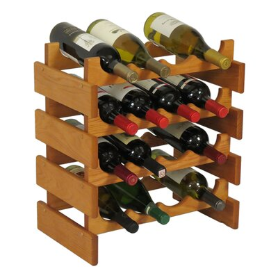 Wooden Mallet Dakota 16 Bottle Floor Wine Rack