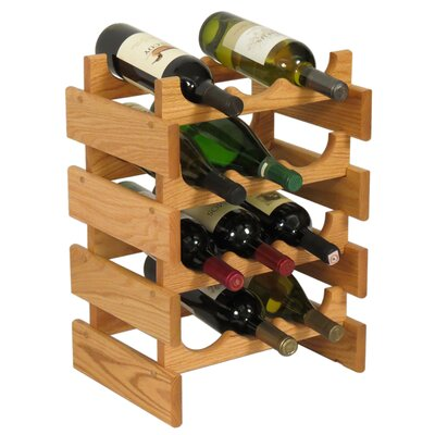 Wooden Mallet Dakota 12 Bottle Floor Wine Rack