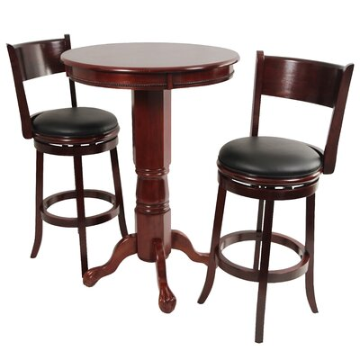 Alcott Hill Shiloh 3 Piece Pub Table Set