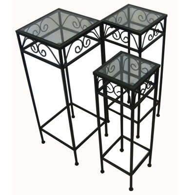 Pangaea Home and Garden 3 Piece Nesting Tables