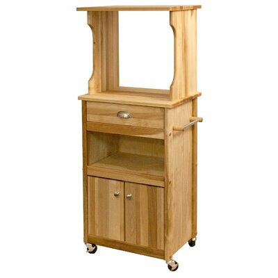 Catskill Craftsmen, Inc. Microwave Cart with Butcher Block Top