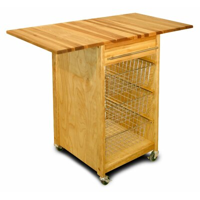 Catskill Craftsmen, Inc. Kitchen Cart with Butcher Block Top