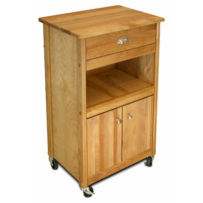 Catskill Craftsmen, Inc. Cuisine Kitchen Cart with Butcher Block Top