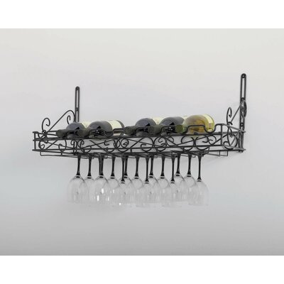 Concept Housewares Wall Mounted Wine Glass Rack