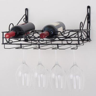 Concept Housewares 4 Bottle Wall Mounted Wine Rack